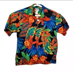 Hilo Hattie Hawaiian Originals Colorful shirt L